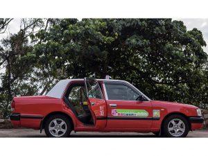傳統豐田的士車身