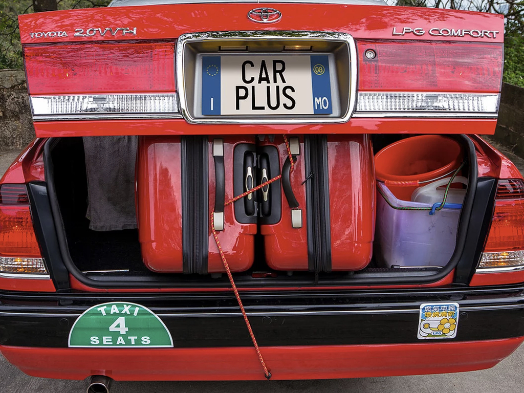 傳統豐田的士車尾箱